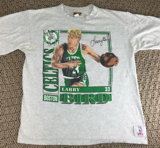 Vintage 1990 Larry Bird Boston Celtics Caricature T-Shirt L
