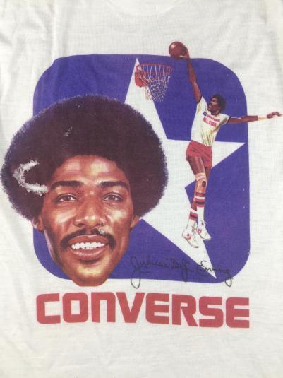 Vintage 70s 80s Julius Erving Converse Basketball T-Shirt