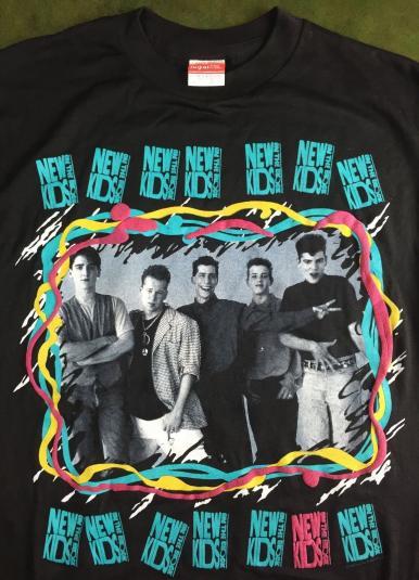 Vintage 1989 NKOTB New Kids The Block Concert Tour T-Shirt