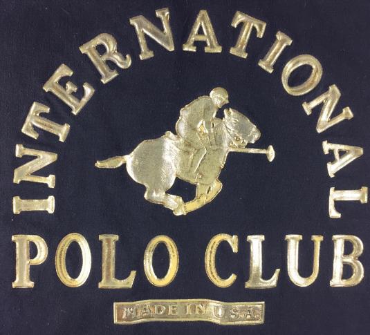 Vintage 90 International Polo Club Urban Hip-Hop T-Shirt XXX