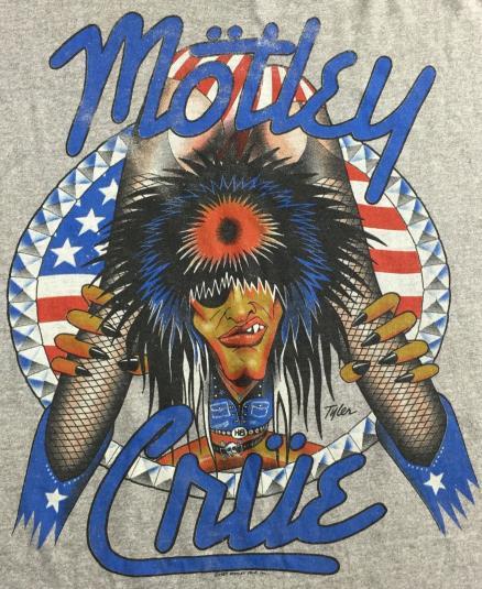 Vintage 1987 Motley Crue Girls Concert Tour T-Shirt XL
