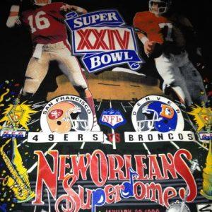Super Bowl XXIV Joe Montana John Elway 49ers Broncos T-Shirt