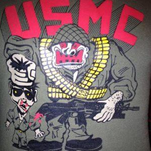 USMC Marines Cartoon 1980s T-Shirt