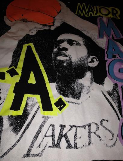 Magic Johnson Major Magic LA Lakers 1990s T-Shirt