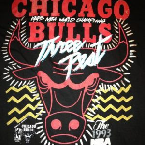 1993 Chicago Bulls Black 3 Peat Shirt