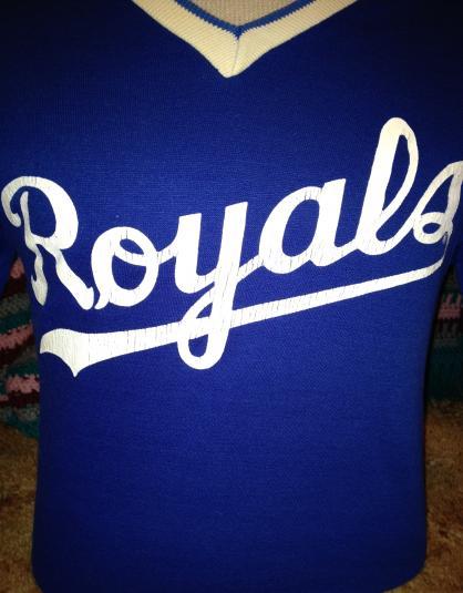 Kansas City Royals Cotton Ringer 1980s Jersey