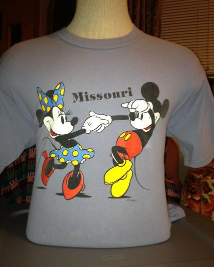 Mickey & Minnie Mouse 1980s Missouri T-Shirt
