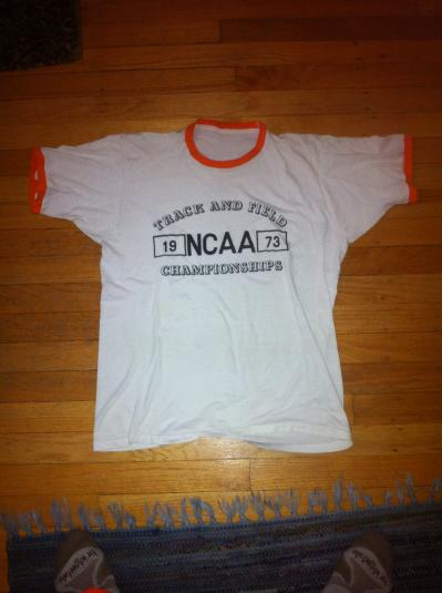 1973 NCAA Track & Field t shirt PREFONTAINE