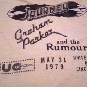 Journey, Graham Parker and the Rumour Event 1979 Shirt