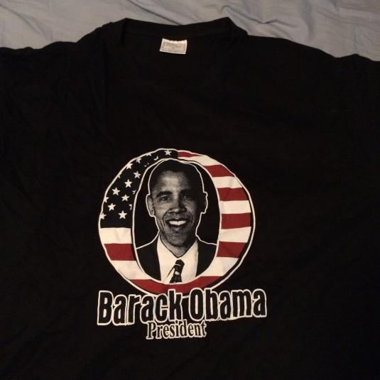 VINTAGE Young President Obama T-Shirt (2008)