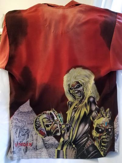 "Iron Maiden ""Maiden Hell"" Ultra Rare Dragonfly Design Shirt"