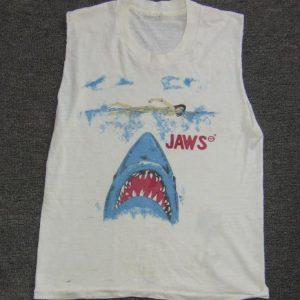 JAWS OFFICIAL SLEEVELESS VTG BOYS GIRLS KIDS T-SHIRT 1975