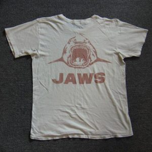 JAWS AUTHENTIC FILM CREW SHIRT JOE ALVES ART 1974 RARE VTG