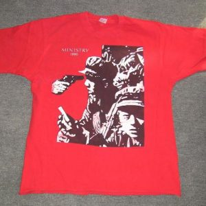 MINISTRY BURNING INSIDE EP T-SHIRT WAX TRAX SIRE INDUSTRIAL