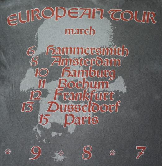 FLOTSAM AND JETSAM Vintage 1987 T-Shirt