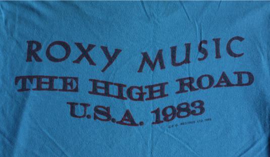 ROXY MUSIC Vintage 1983 Tour T-Shirt