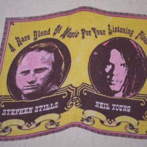 NEIL YOUNG & STEPHEN STILL vintage 1976 tour t-shirt