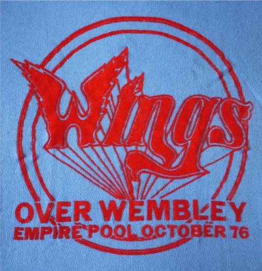 WINGS Vintage 1976 UK Tour T-Shirt