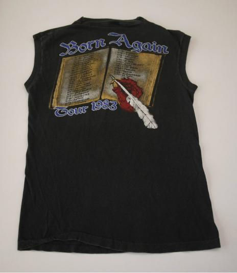 BLACK SABBATH vintage 1983 US tour t-shirt