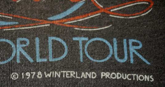 DAVID BOWIE vintage 1978 tour t-shirt