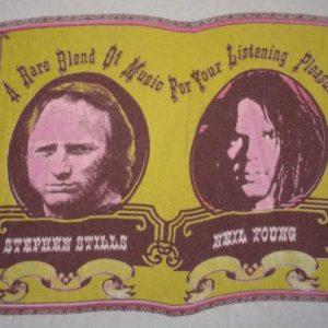 NEIL YOUNG & STEPHEN STILLS vintage 1976 tour t-shirt