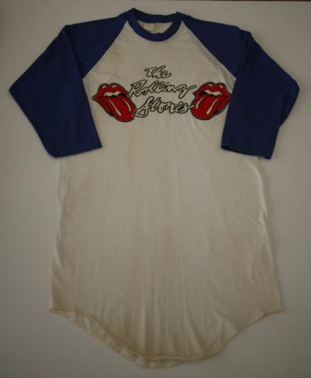 THE ROLLING STONES vintage 1978 t-shirt