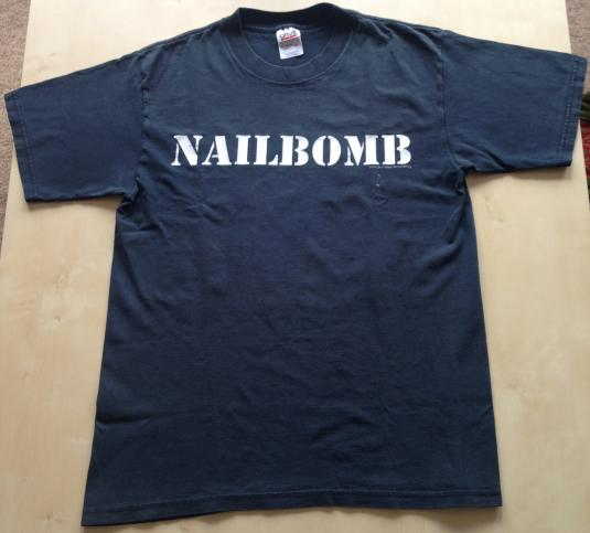 Vintage 1994 Nailbomb 'Feels Good to be a Punk Loser' tee