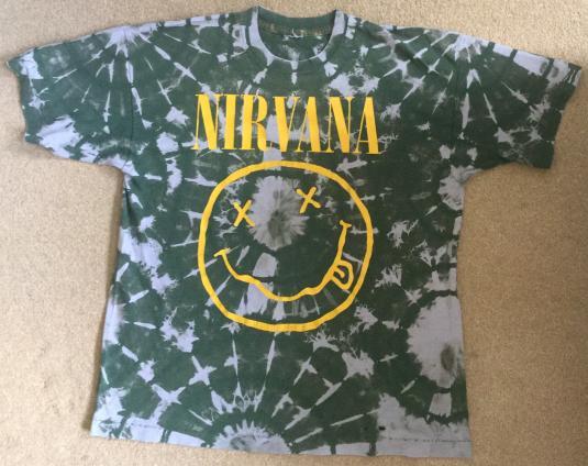 NIRVANA: 90s Tie-Dye Smiley Corporate Rock Whores Tee
