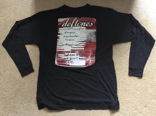 Deftones UK Tour T-Shirt from 1997