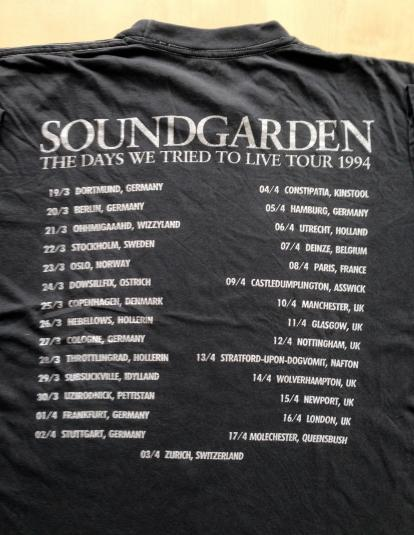 Soundgarden – 1994 The Days We Tried To Live Tour T-shirt