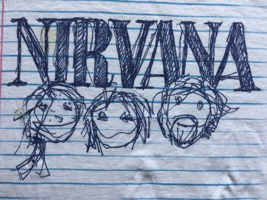 NIRVANA: Vintage 1997 'Doodle' T-shirt