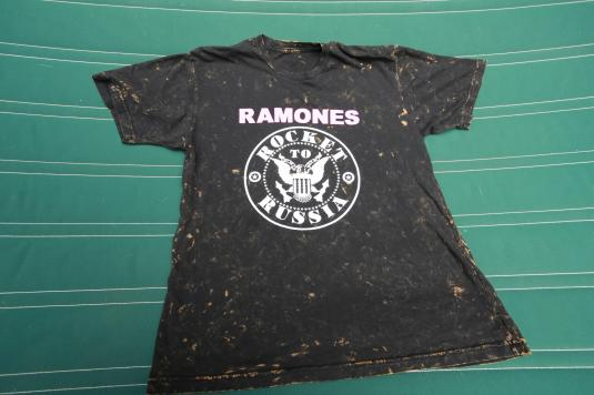 Repro of vintage 1977 Ramones Rocket To Russia t-shirt