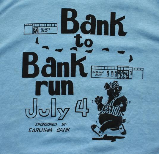 Bank to Bank Run 1984 vtg sleeveless t-shirt M/L