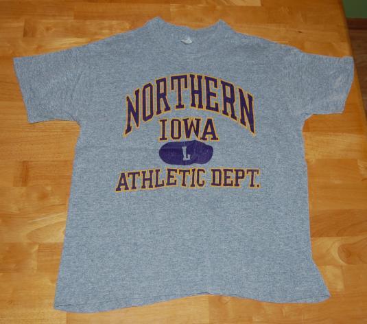 RAYON Northern Iowa Athletic Dept vintage t-shirt M/L