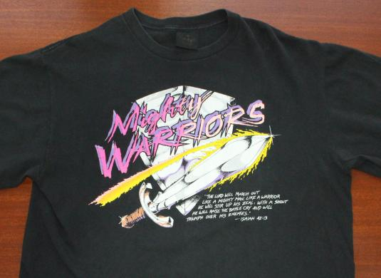 Mighty Warriors Isaiah 42:13 vintage large t-shirt