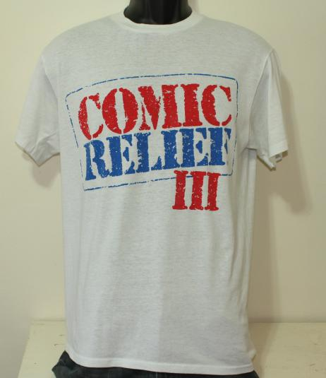 Comic Relief III 1989 HBO vintage white t-shirt Medium/Large