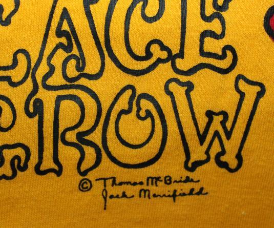Marijuana Iowa American Gothic vtg yellow teee Tall S/M