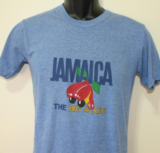 Jamaica The Big Ackee fruit vintage light blue t-shirt Small