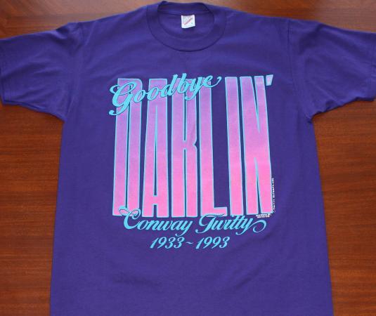 Conway Twitty Goodbye Darlin' vtg 1993 purple t-shirt M/L