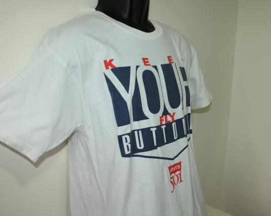 Levis 501 Keep Your Fly Buttoned vintage Hanes t-shirt L