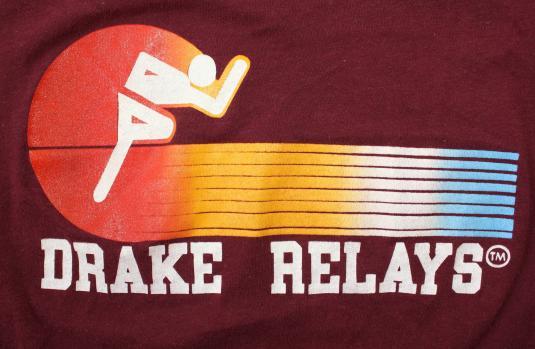 Drake Relays vintage 1970s maroon t-shirt Medium