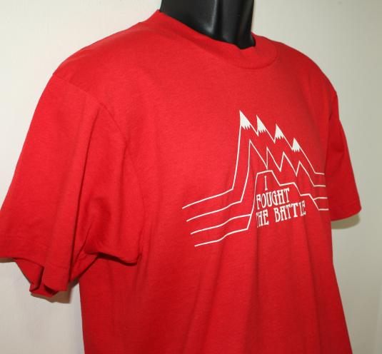 I Fought the Battle vintage red Screen Stars t-shirt Large