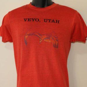 Veyo Utah mountains vintage red burnout t-shirt Small
