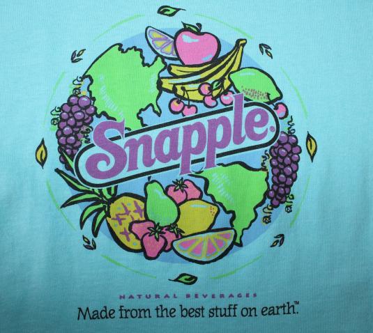 Snapple juice drink vintage 90s light blue t-shirt Large