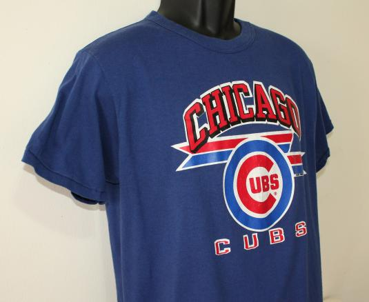 Chicago Cubs baseball 1988 vintage blue t-shirt M/L