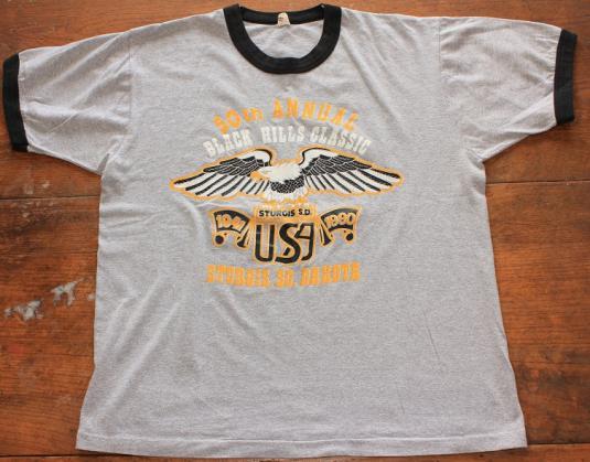 Sturgis Black Hills South Dakota vintage ringer t-shirt L