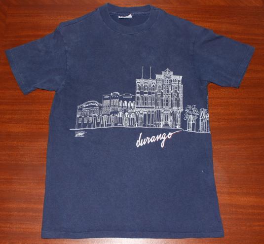 Durango Colorado 1987 vintage wraparound graphic t-shirt M/S