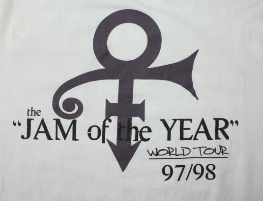 Prince Jam of the Year Tour 1997 1998 vtg t-shirt XL