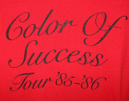 Morris Day Color of Success vtg long-sleeve tee M red 1985