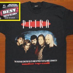 Petra Wake-up Call Christian rock vtg tee XL black 90s 1994
